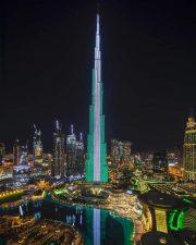 UAE lit up celebrating Nigeria @60