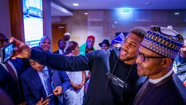 President Buhari hails Anthony Joshua's victory over Pulev