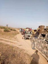 PHOTO NEWS: Soldiers escorting farmers…to ensure safe harvest in Zabarmari, North East Nigeria