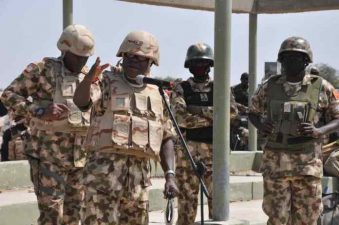 After eliminating 52 B'Haram terrorists , Theatre Commander urges troops to sustain tempo